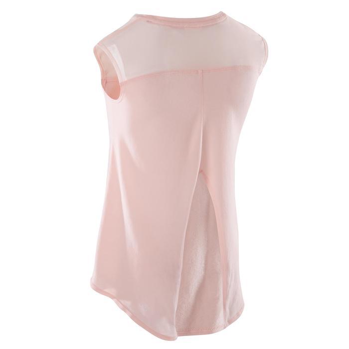 T-shirt manches courtes de danse fille rose pâle - 1270007