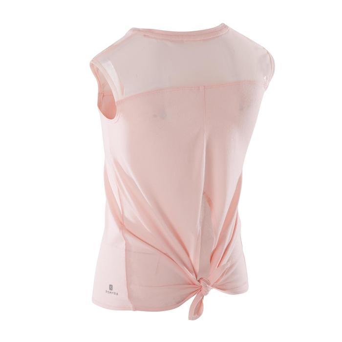 T-shirt manches courtes de danse fille rose pâle - 1270008