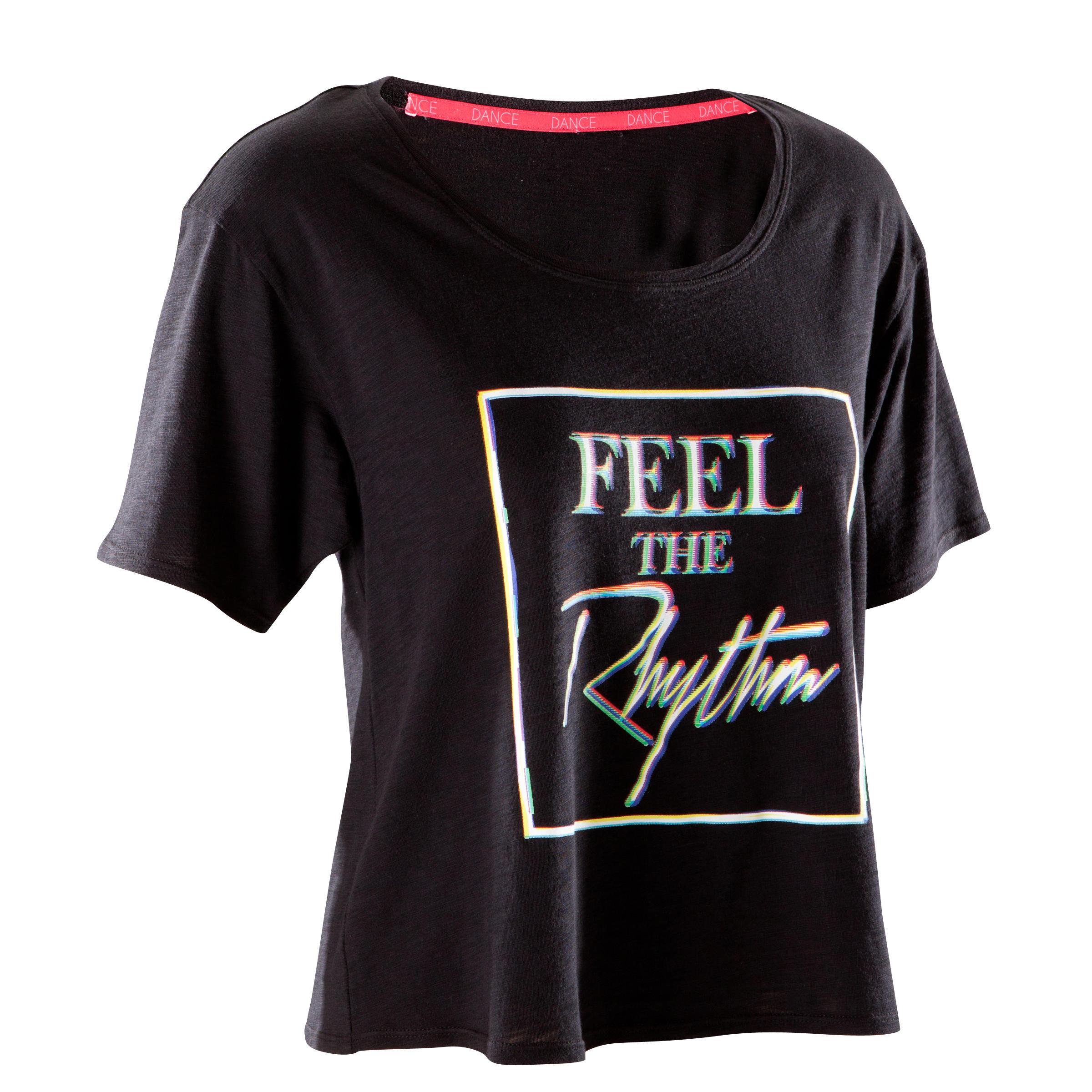 Domyos Kort dans T-shirt voor dames zwart
