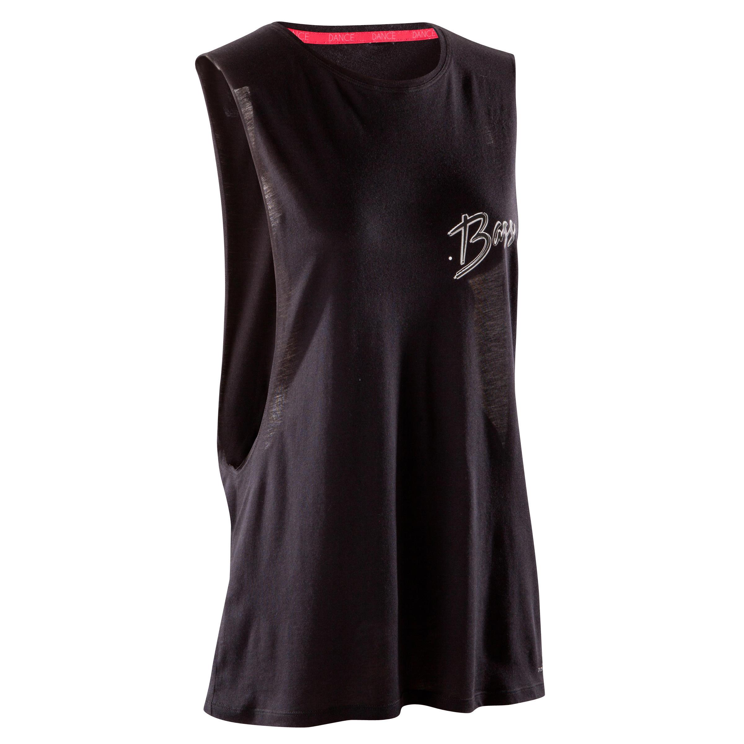 Domyos Mouwloos dansshirt voor dames zwart