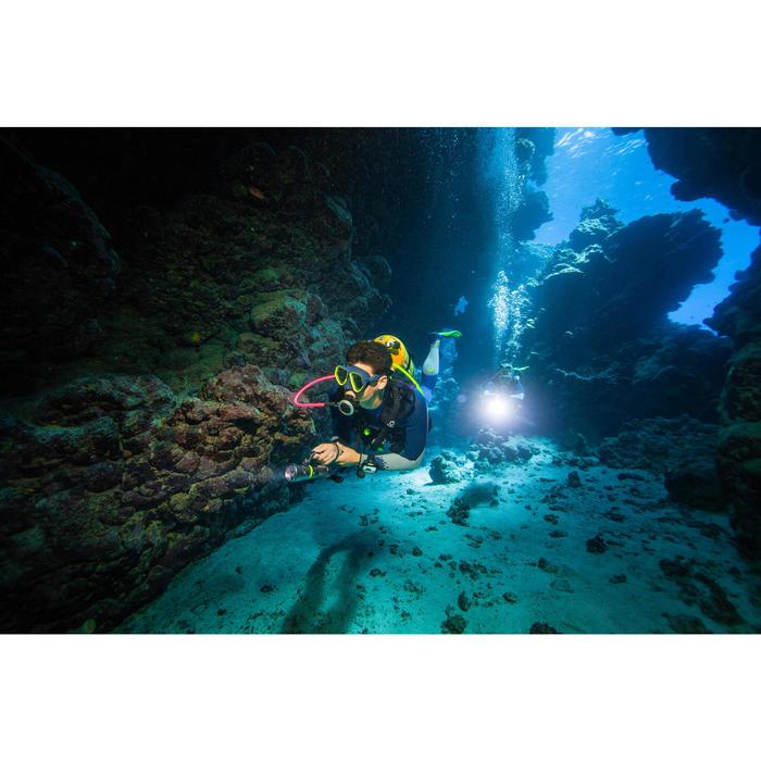 Masque de plongée sous-marine en bouteille SCD500 jupe bleue cerclage - 1270016