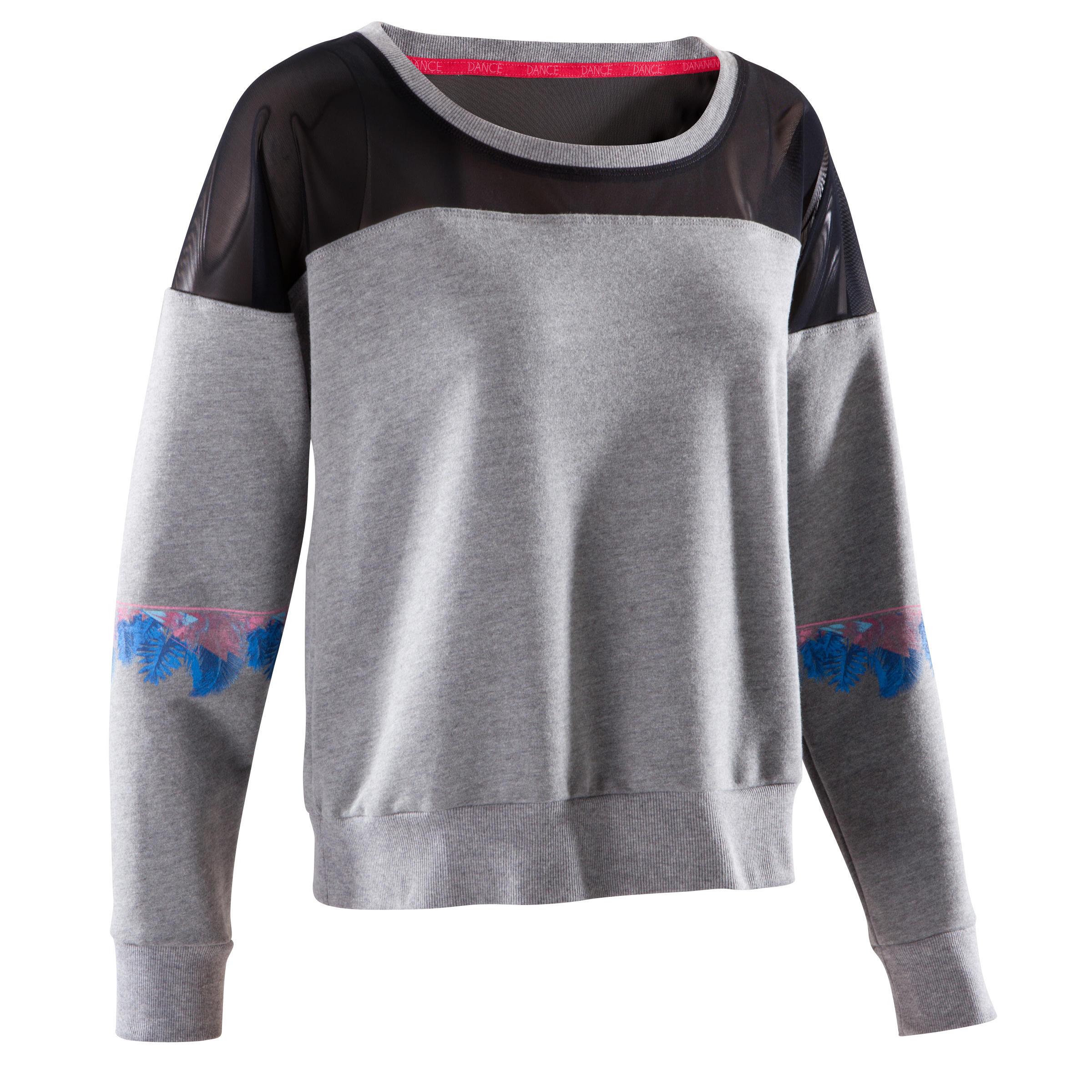 Domyos Danssweater voor dames grijs