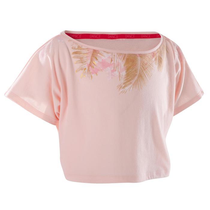 T-shirt danse court et ample manches courtes fille. - 1270025