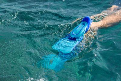 زعانف أطفال للغَوص السطحي SUBEA 520 - لون أزرق