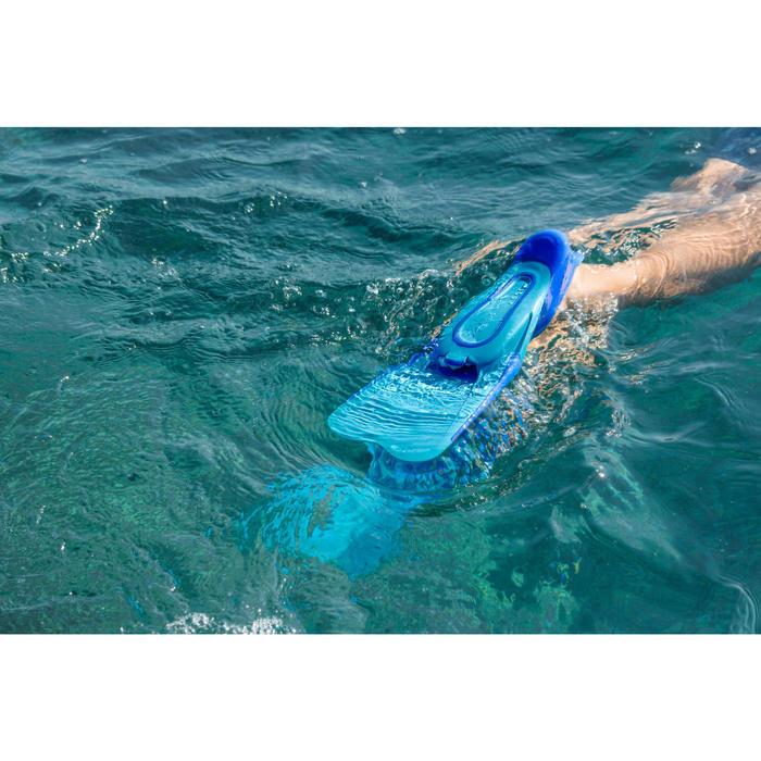Palmes de snorkeling SNK 520 enfant bleu turquoise - 1270031