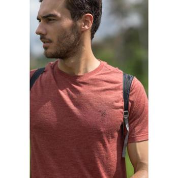 Heren T-shirt met korte mouwen Travel 500 wool rood