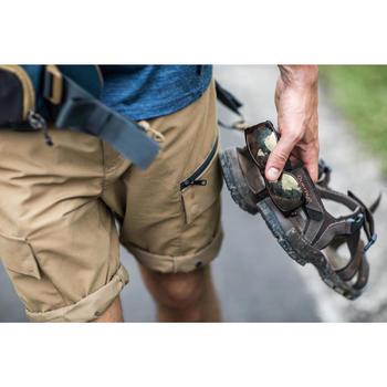 Pantalón Desmontable de Montaña y Trekking Viaje Forclaz Travel500 Hombre Marrón