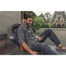 Chemise manches longues trekking TRAVEL500 MODUL Homme kaki