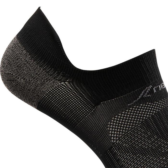 Calcetines de marcha deportiva SK 500 Fresh Invisible negro