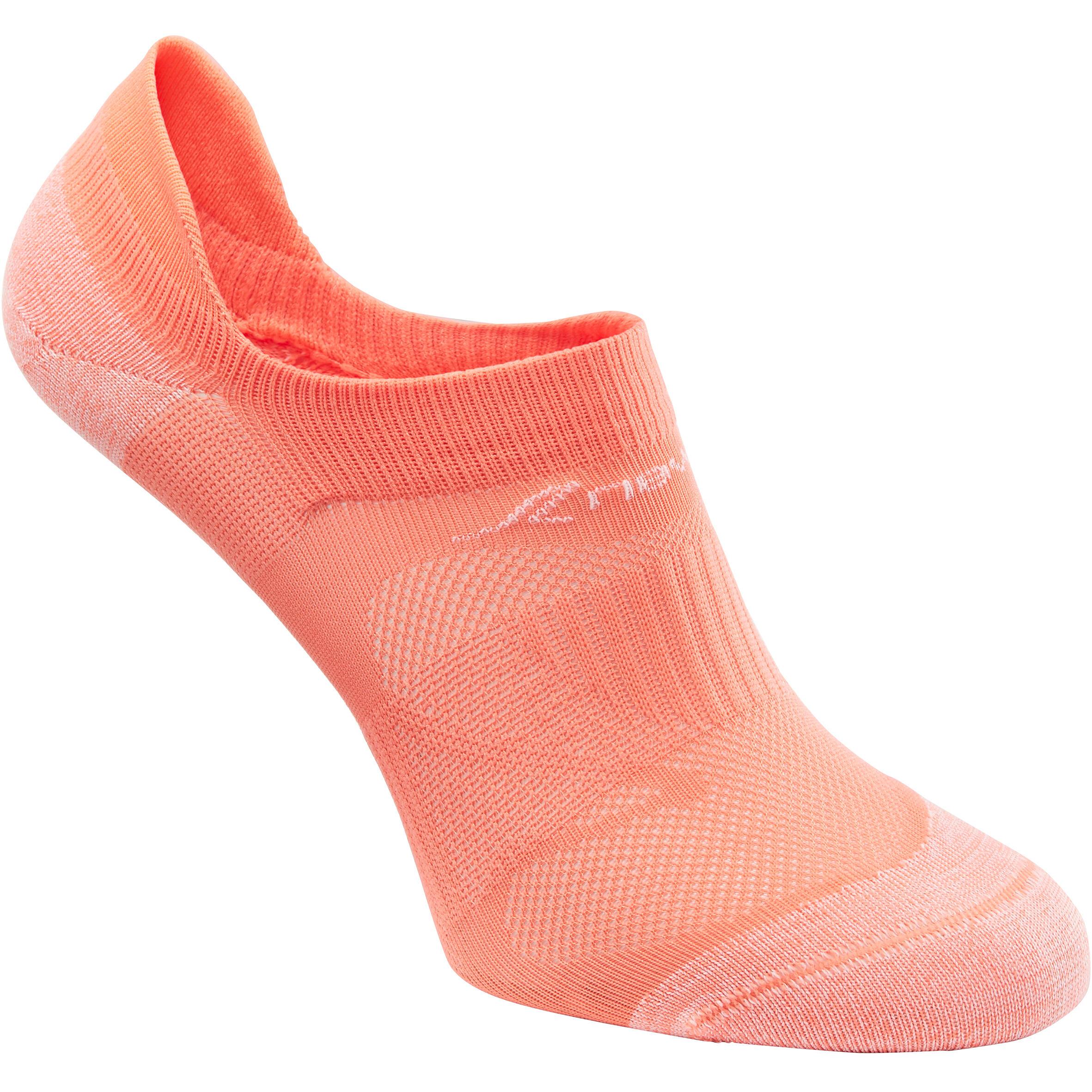SK 500 Fresh Invisible Fitness Walking Socks - Coral