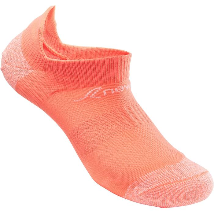 Kindersokken voor sportief wandelen WS 500 Fresh koraalrood