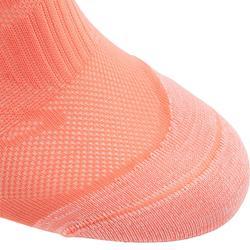 Sokken voor sportief wandelen SK 500 Fresh Invisible koraalrood