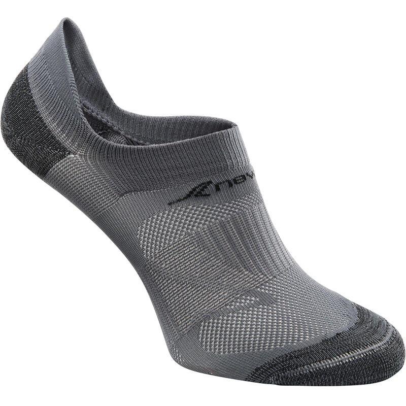 SK 500 Fresh Invisible Fitness Walking Socks - Grey