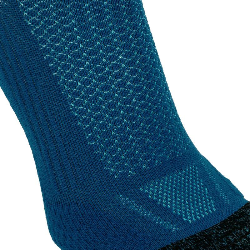 KIPRUN THICK MID-HEIGHT RUNNING SOCKS - BLUE