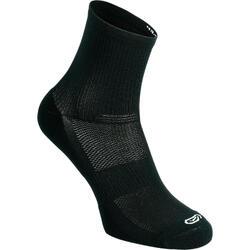 Calcetines Running Kalenji Confort MID Adultos Negro X2