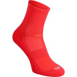中筒舒適跑步運動襪2雙入- 黑色
