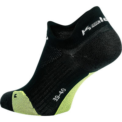 KIPRUN THIN INVISIBLE RUNNING SOCKS - BLACK/YELLOW