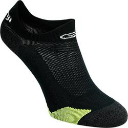 Dunne onzichtbare sokken Kiprun zwart/geel