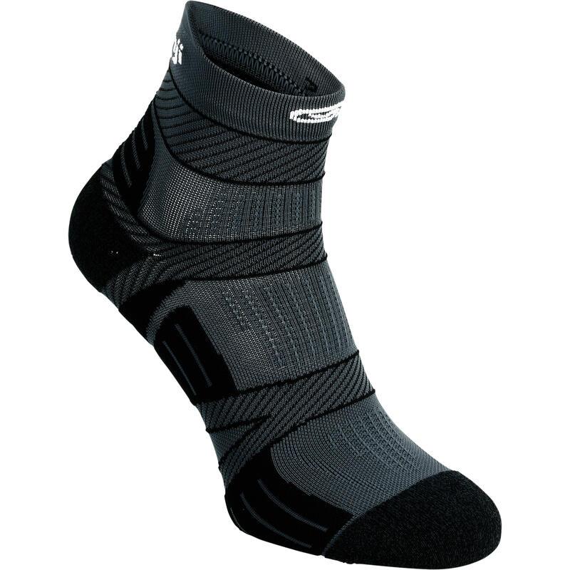 Running Socks with Fine Straps - Black