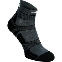 薄運動襪Kiprun Strap - 黑色