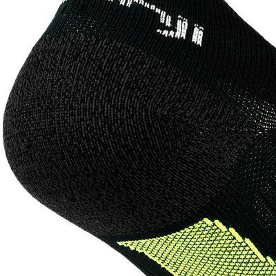 Kiprun גרביים בלתי נראים - שחור / צהוב
