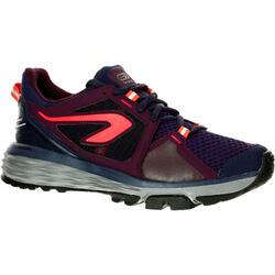 女款野跑鞋RUN CONFORT GRIP-黑底珊瑚紅