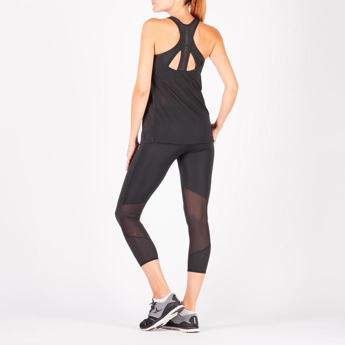 Camiseta sin mangas sujet-top integrado fitness cardio-training mujer negro 900