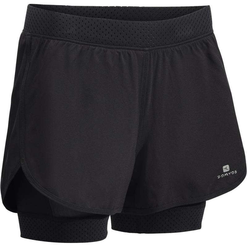 e5df1ae90 Shorts 2 em 1 Cardio Training Feminino Domyos