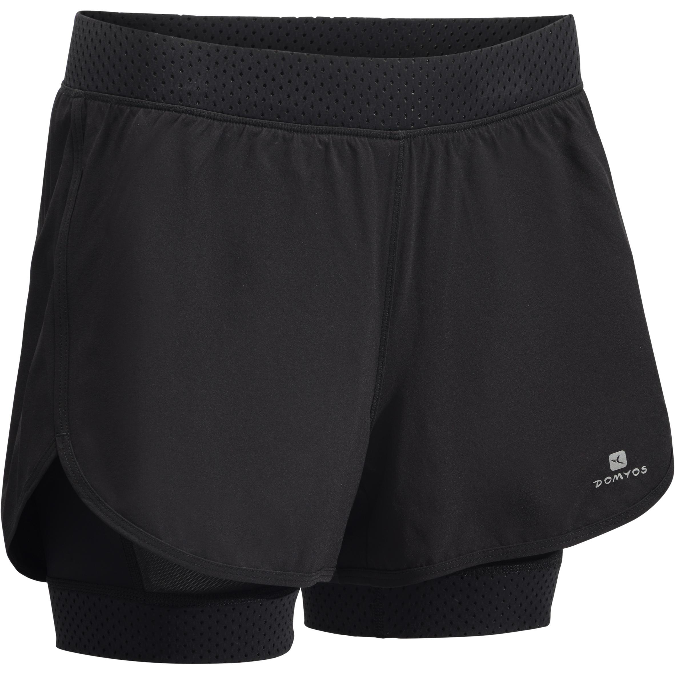 900 Women's 2-in-1 Cardio Shorts - Black