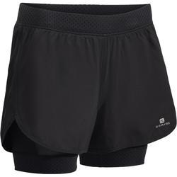 900 女性有氧運動2-1 分短褲 - 黑色