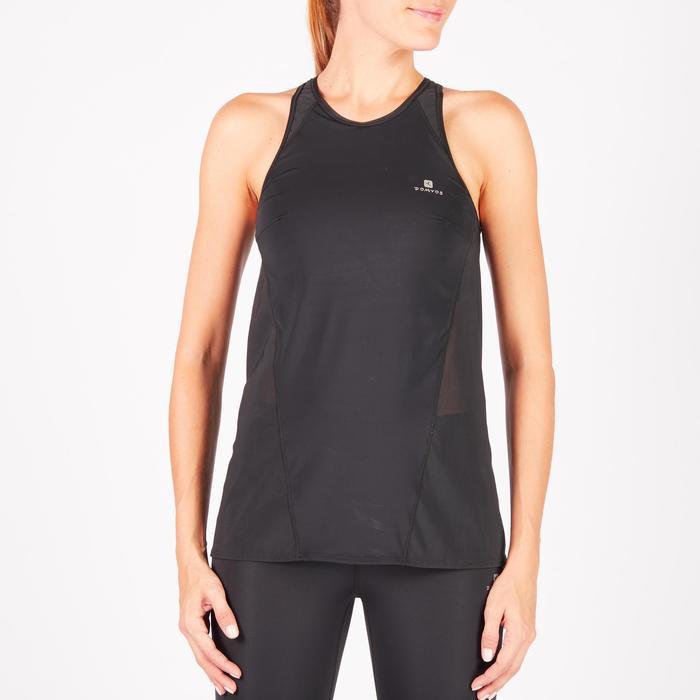 Débardeur brassière intégrée fitness cardio-training femme noir 900 - 1270761