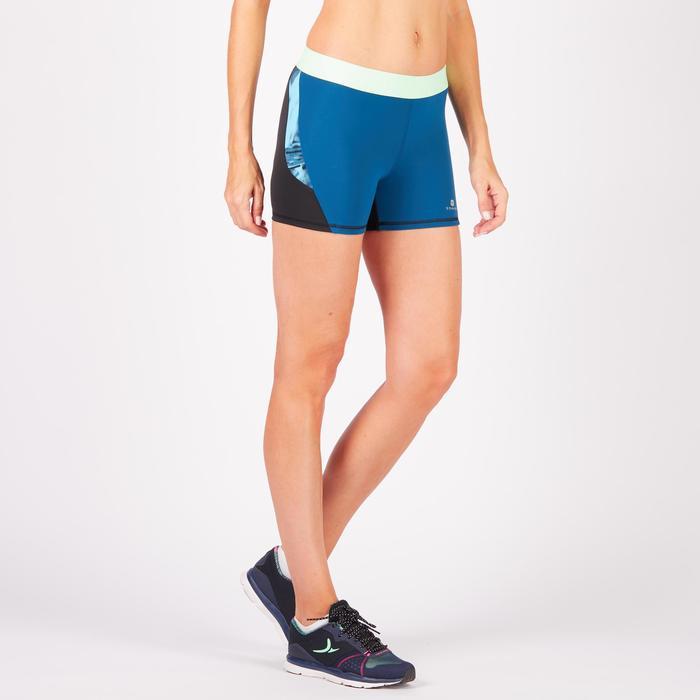 Short fitness cardio femme à imprimé tropical rose 500 Domyos - 1270766