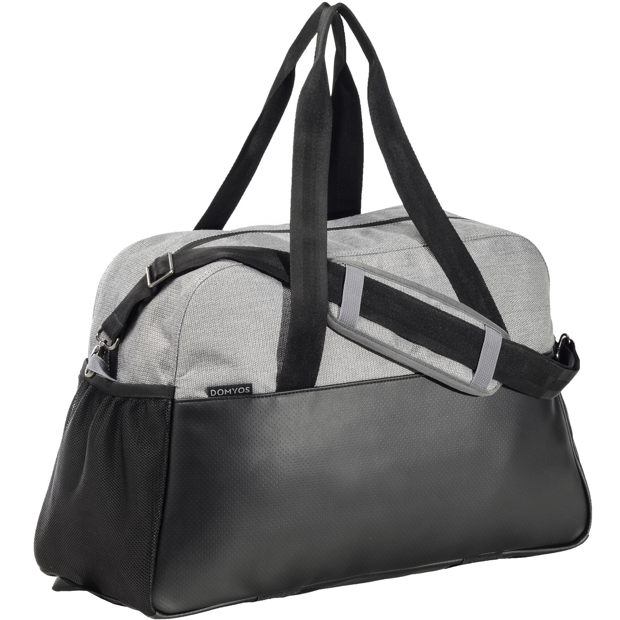 sac fitness 30 litres gris et noir premium domyos by decathlon. Black Bedroom Furniture Sets. Home Design Ideas