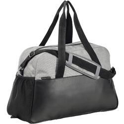 Bolsa de deporte gimnasio Cardio Fitness Domyos 30 litros negro gris