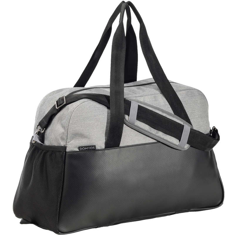 FITNESS CARDIO BAGS, ACCESS ALL LEVEL Fitness and Gym - Fitness Bag 30L - Black/Grey DOMYOS - Fitness and Gym