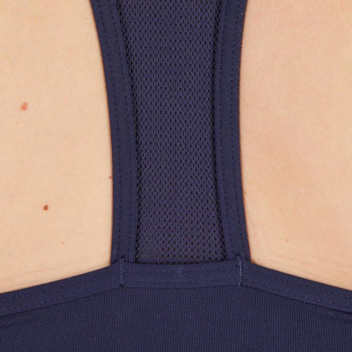 女款有氧健身內衣100-軍藍色