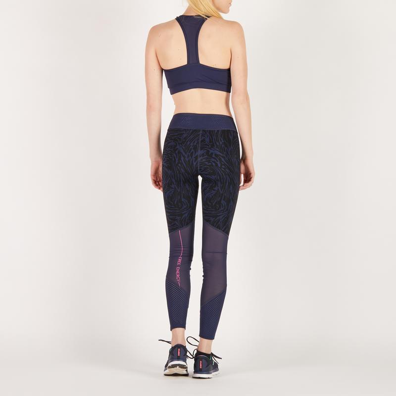 สปอร์ตบราสำหรับผู้หญิงใส่ออกกำลังกายแบบคาร์ดิโอรุ่น 100 (สีกรมท่า)