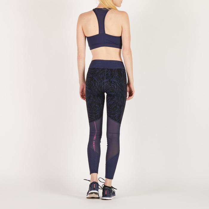 100 Women's Cardio Fitness Sports Bra - Navy Blue