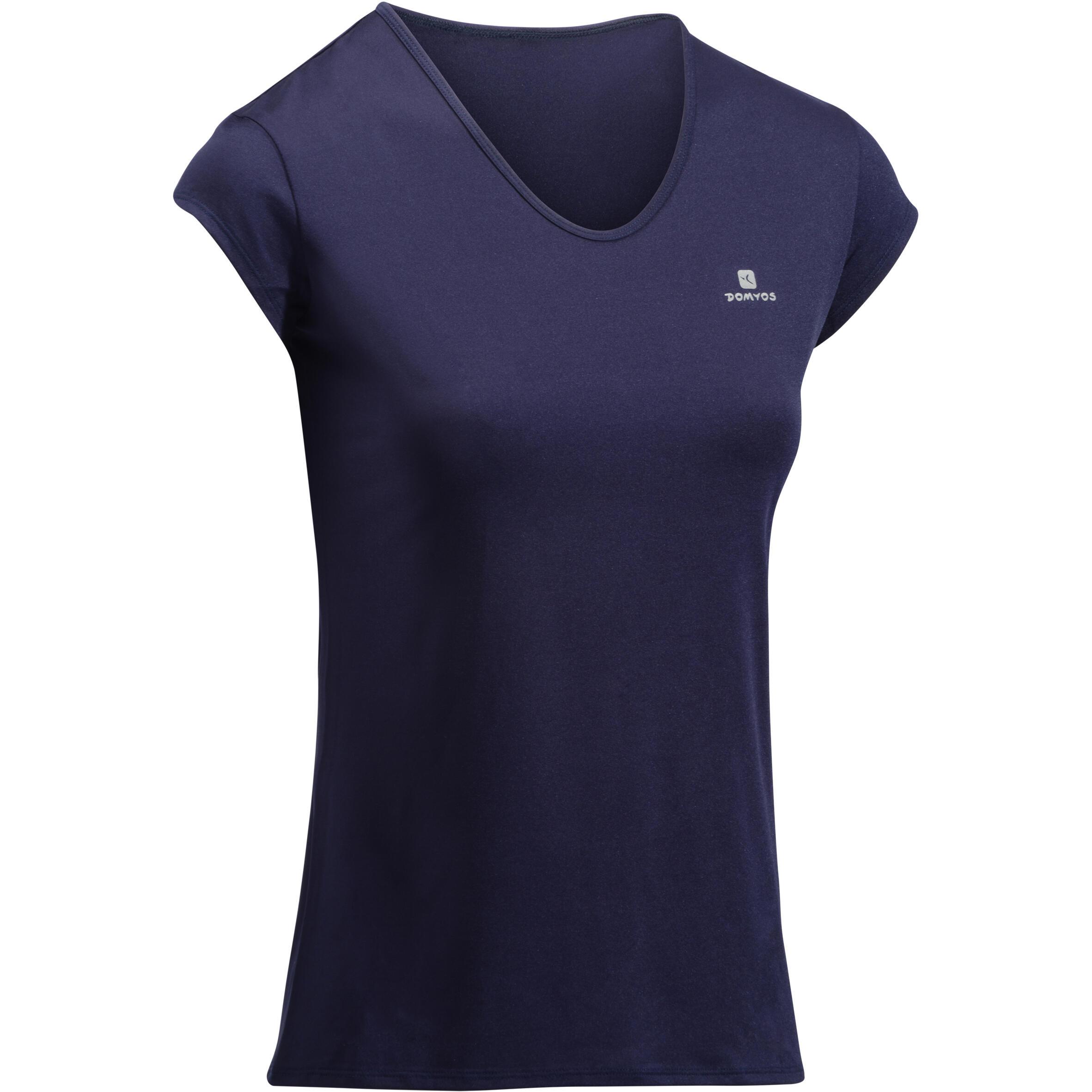 Domyos Fitness shirt 100 voor dames, blauw