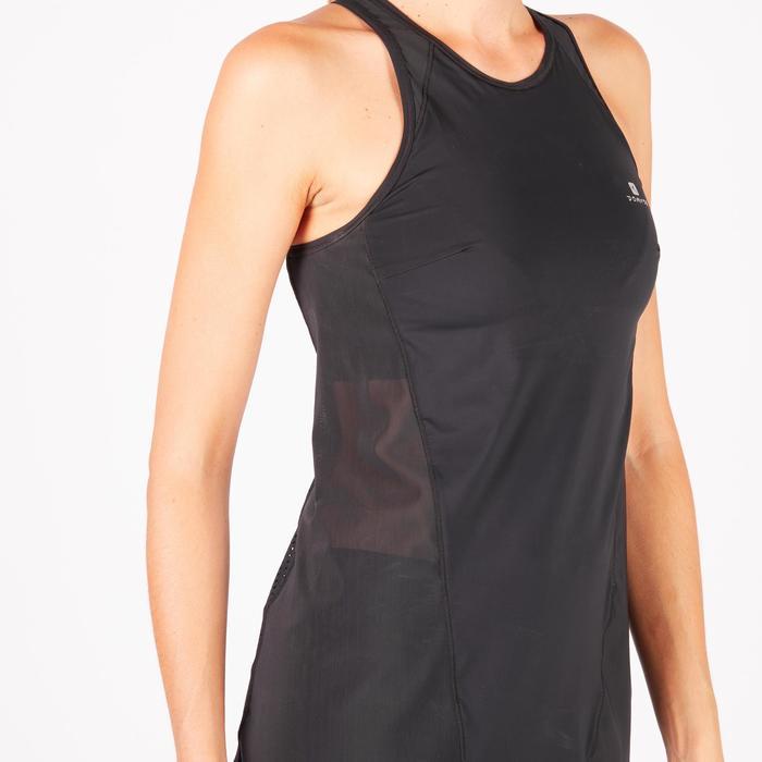 Débardeur brassière intégrée fitness cardio-training femme noir 900 - 1270927