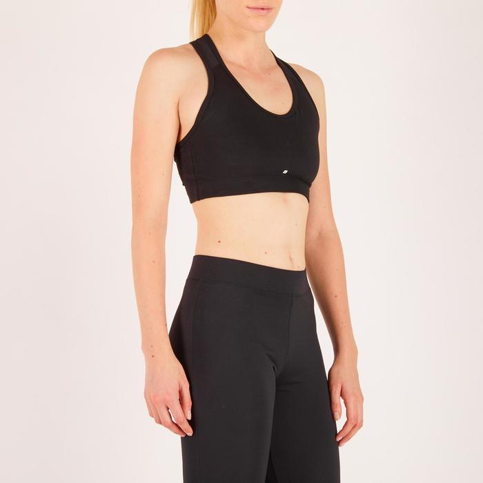 100 Women's Cardio Fitness Sports Bra - Black