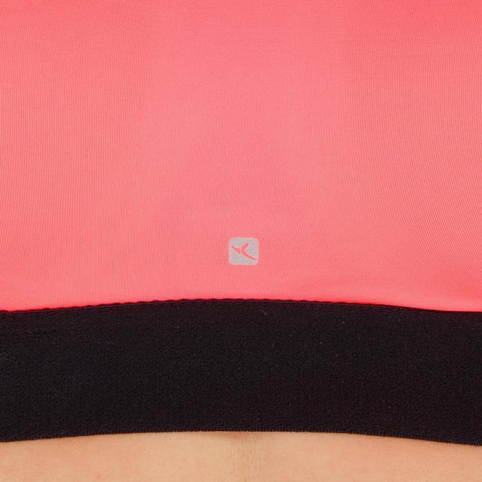 Brassière fitness cardio femme imprimés géométriques noirs 500 Domyos - 1270981