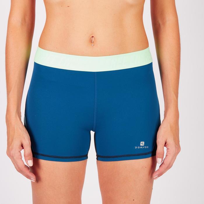 Short fitness cardio femme à imprimé tropical rose 500 Domyos - 1271012
