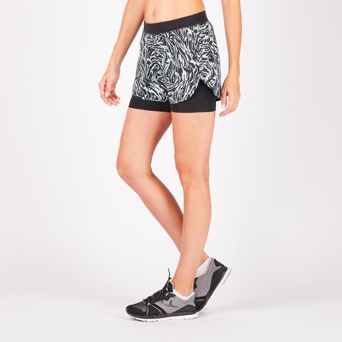 Short 2 en 1 fitness cardio-training femme 900 - 1271031