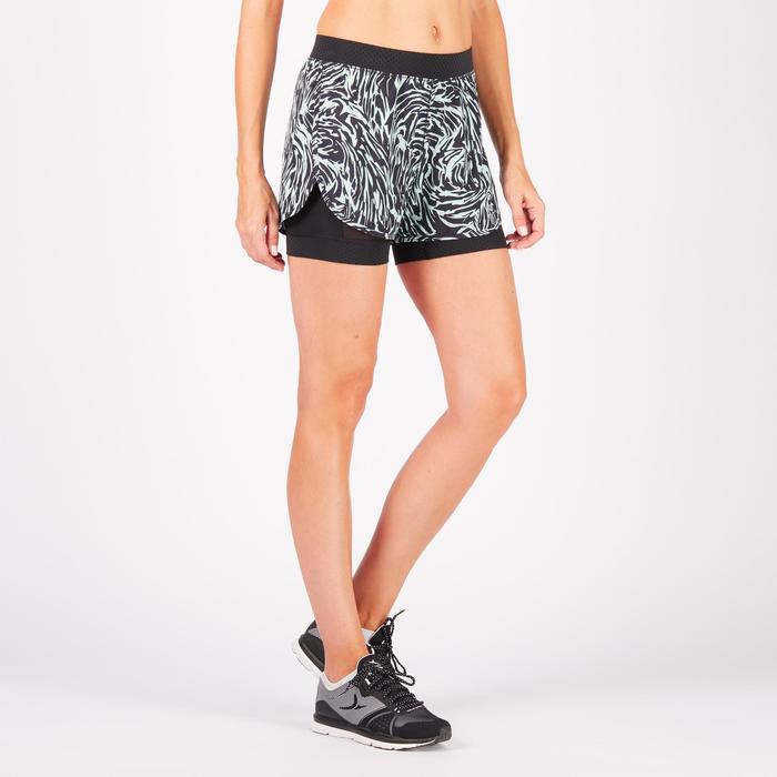 Short 2 en 1 fitness cardio-training femme 900 - 1271045