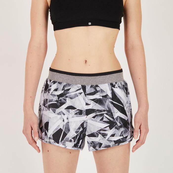 Short fitness cardio-training femme noir 100 - 1271047