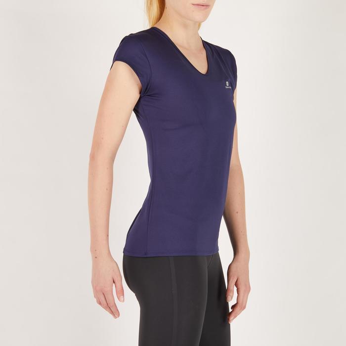 Camiseta cardio fitness mujer azul marino 100
