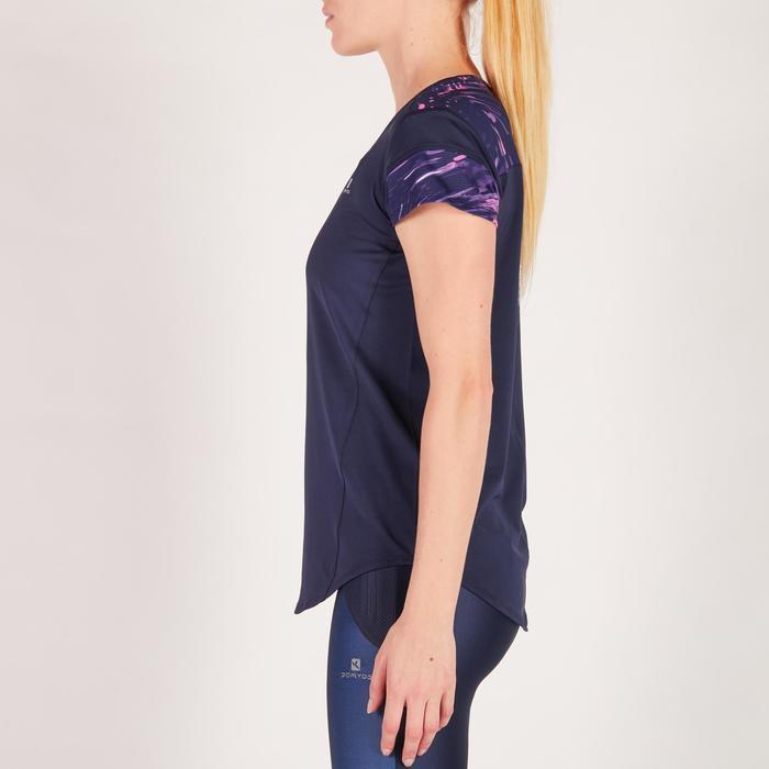 Camiseta de fitness cardio para mujer azul marino 500 Domyos