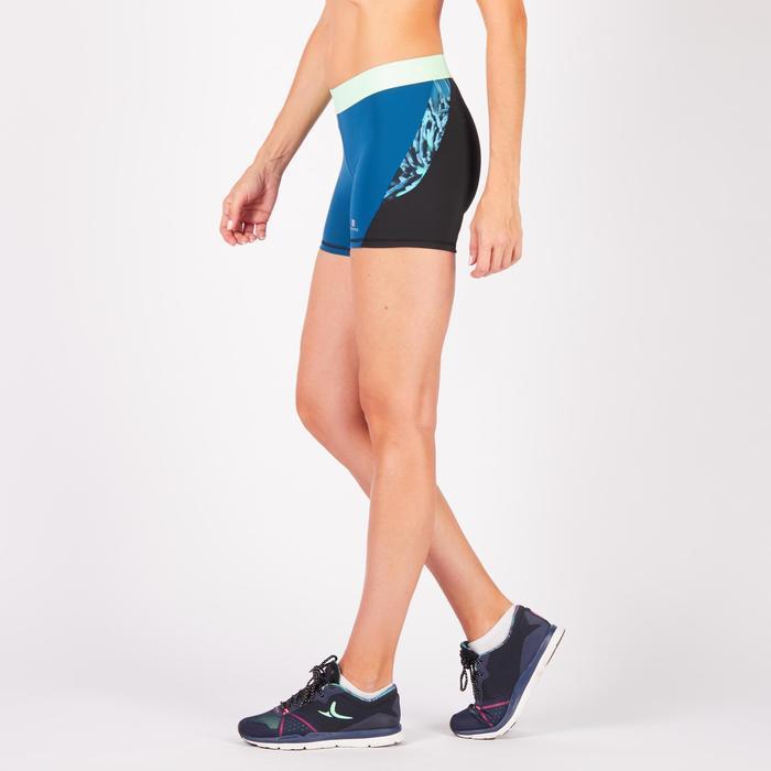 Short fitness cardio femme à imprimé tropical rose 500 Domyos - 1271075