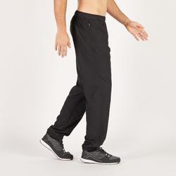 Pantalón Chándal Cardio Fitness Domyos Hombre Negro FPA120